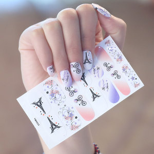 Hotselling Asia Style Easy Use and Take off Last for 1weeks Glitter nail polish gel sticker/nail wrap/nail decoration