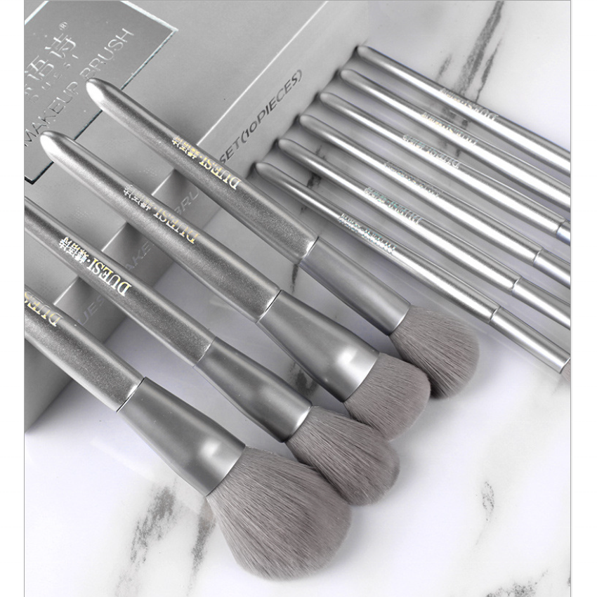 Amazon New Travel <strong>Makeup</strong> <strong>Brushes</strong> <strong>High</strong> <strong>Quality</strong> <strong>Makeup</strong> <strong>Brush</strong> Set Silver