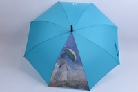 Oil printing photographic and bird head handle umbrella