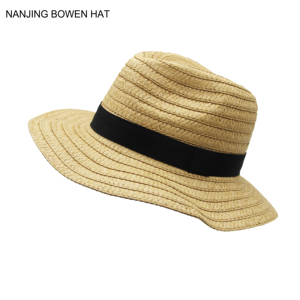 015bca1a1d0 panama unisex simple design paper braid foldable straw hat with adjustable  band