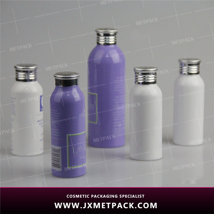 modern pearl powder aluminum bottle with a metal sifter