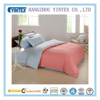 Pure Color Home Textile Pink 4pcs Comforter Bedding Set Queen King Size Bed Sheet Set