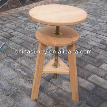 Artist Adjustable Wooden Stool