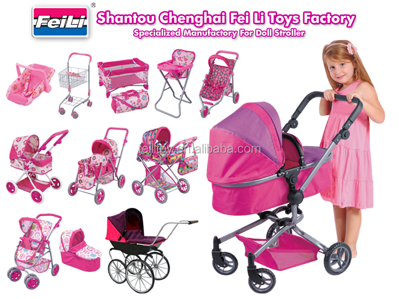 Wholesale FEI LI baby doll stroller with car seat and shoulder bag ...