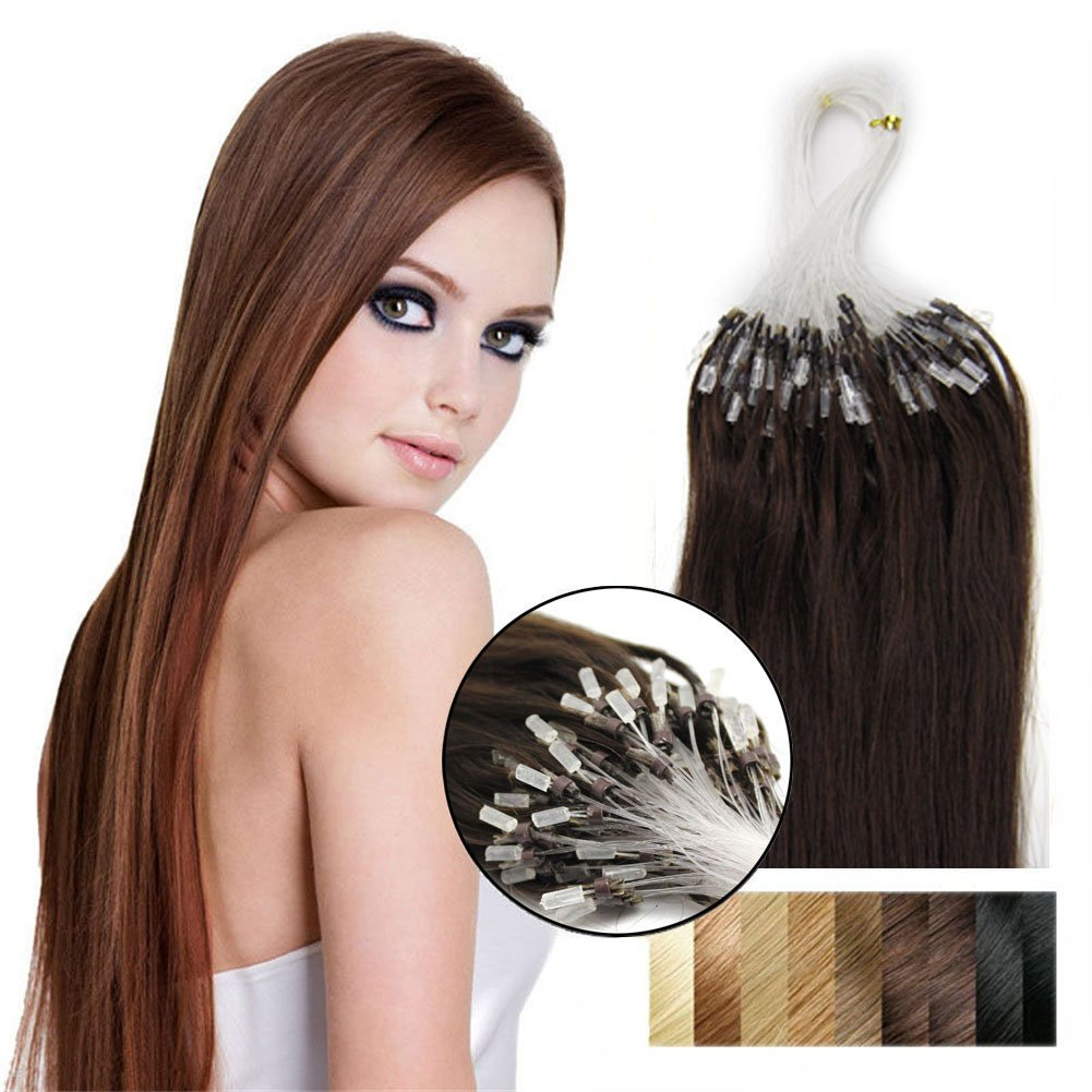 Buy Yotty Remy Human Hair Extensions Diy Easy Loop Micro Ring Beads