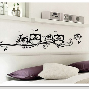 wall sticker tree animals bedroom owl butterfly wall stickers home