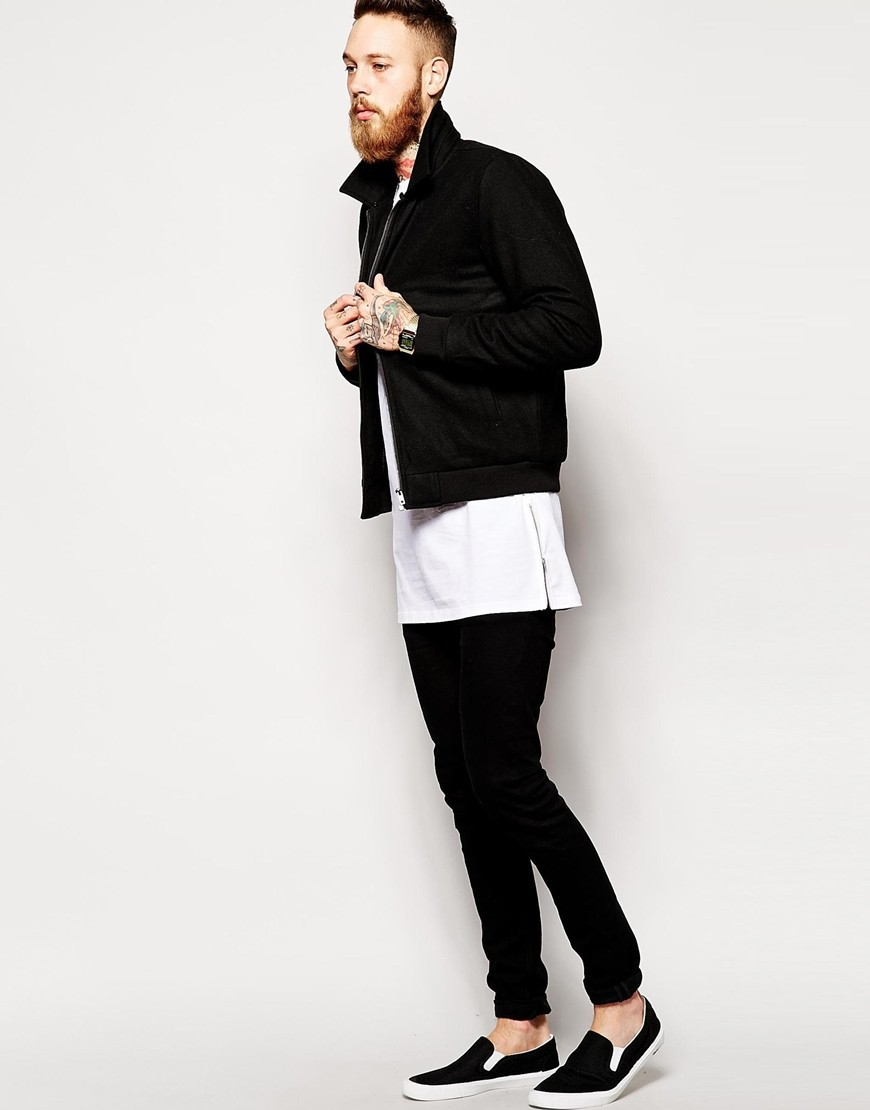 2015 New Arrival Hiphop Tee Shirt Side Zipper Tshirt Oversized T ...