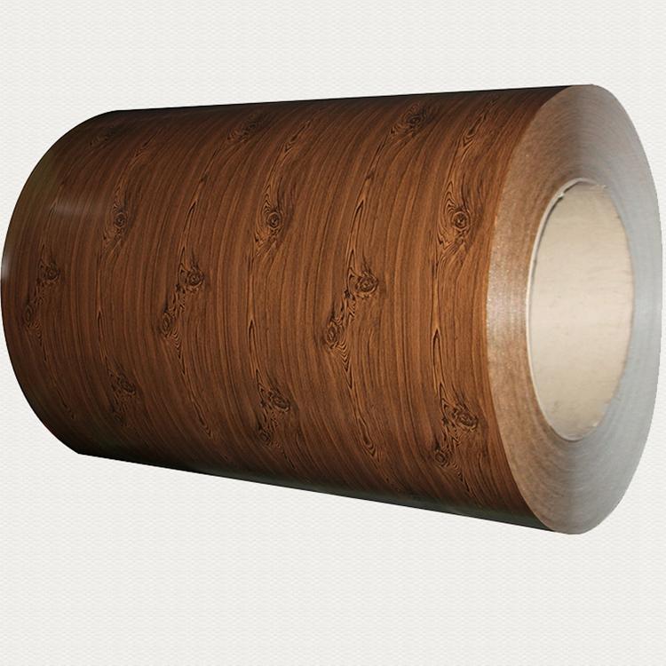 Disegno del grano di legno di colore rivestito ppgi lamiera di acciaio in bobina per materiale da costruzione