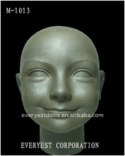 Vivid doll head clay mold