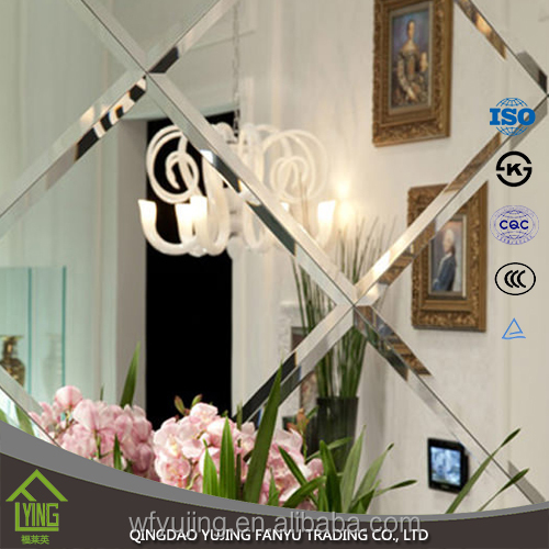 4mm 5mm 6mm mirrored furniture Beveled silver mirror tiles