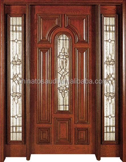 Imitated teak wood main door design latest design wooden for Wooden main door