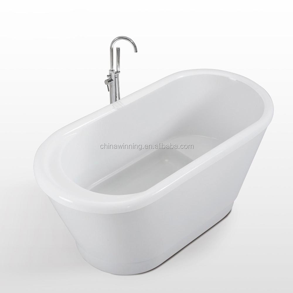 1300mm Acrylic Tub Freestanding Bathtub Small Soaking Bath Tub ...