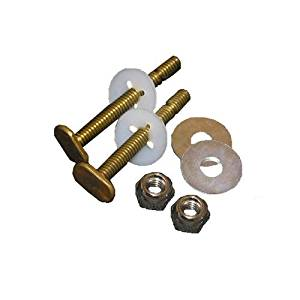 LASCO 04-3645 Solid Brass 5/6-Inch by 2-1/4-Inch Heavy Duty Bolts with Nuts and Washers Toilet Bolts Model: 637441 (Hardware & Tools Store)