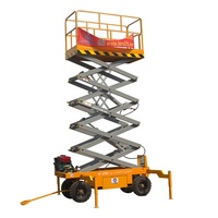 12m CE and ISO certificate mobile scissor lift,mechanical electric platform lift price