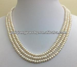 latest design elegant pearl chain necklace design hyderabad