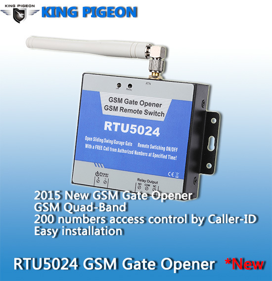 Electric Remote GSM Door Opener Easy Set up by SMS gate opener RTU 5024