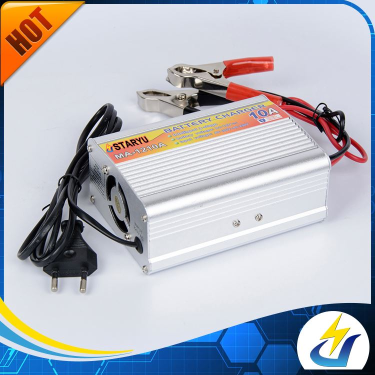 Lowest price 110--220V input 10A 14.5V portable car battery charger
