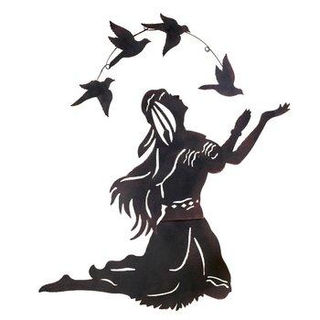 Metal Native American Indian Woman Figurine And Bird Wall Art - Buy Metal  Indian Figurine,Bird Wall Art,Metal Wall Art Product on Alibaba com