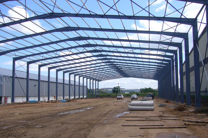 high quality pre-engineering steel structure warehouse