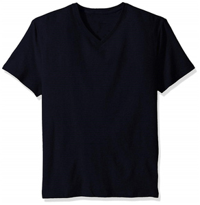 Mens 95 cotton 5 spandex t shirts short sleeve solid slim fit V-Neck t-shirt for men elastic tees