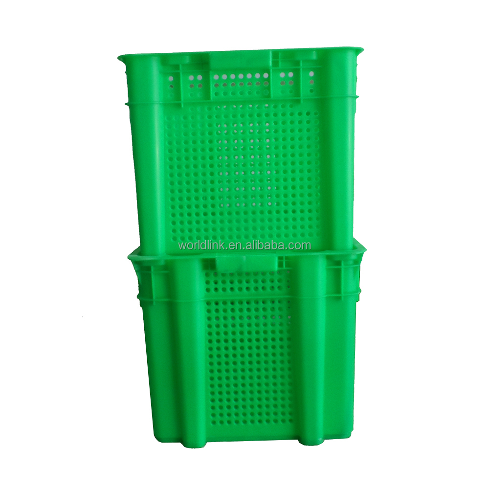 New Design Heavy Duty Stack and Nest Plastic Vegetable and Fruit Crate