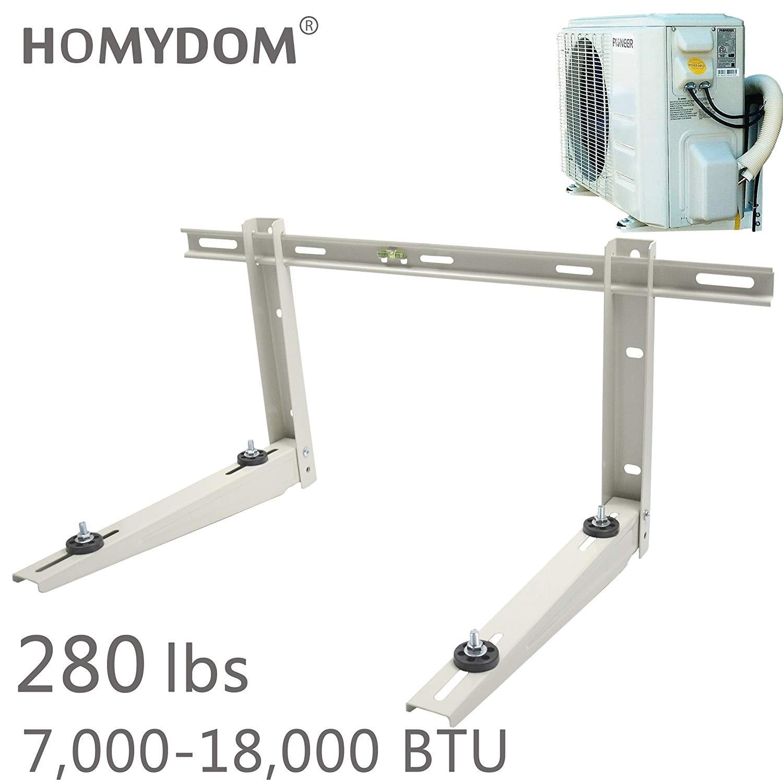 Homydom Mini Split Mounting Bracket for Ductless Air Conditioner,Universal,7000-18000 Btu Condenser