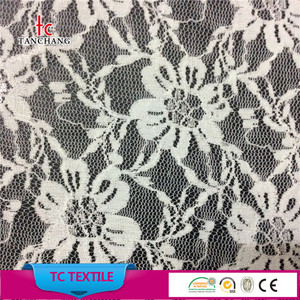 2018 new fashion flower design lycra bridal lace fabric for lady dress french lace fabric LSML48