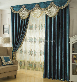 2017 China Wholesale Ready Made Curtainvelvet Curtain Fabric India