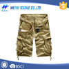 Wholesale plain dyed cotton mens cargo shorts with belt