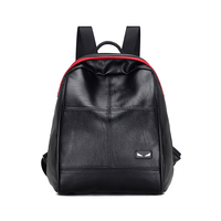 Hot sale black women leisure rucksack ladies small shoulder bag travel pu leather fashion backpack