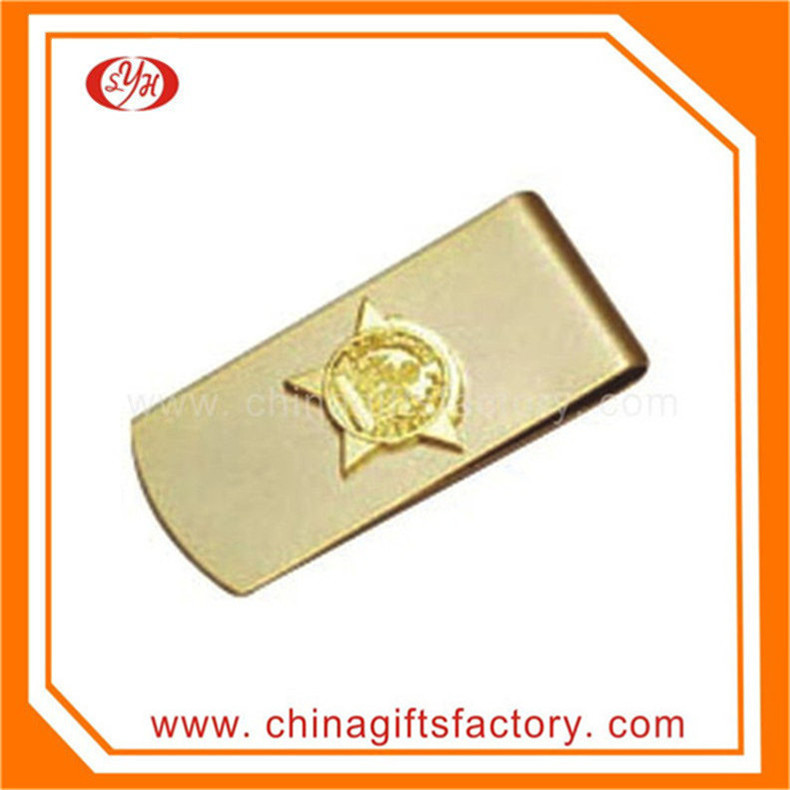 Wholesale high quality gold plated stainless steel money clip