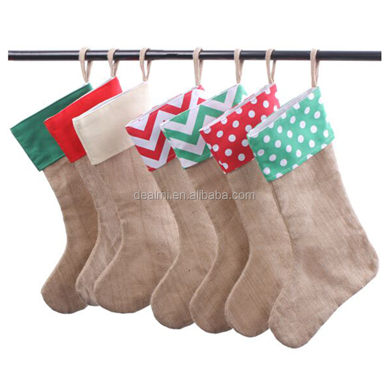 Wholesale Monogrammed Personalized Canvas Christmas Stocking