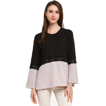 6402fc2f5572c Muslim Womens Tops Blouses 2018 Crochet Lace Crop Tops Ladies Blouse ...