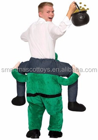 novelty mascot costume men`s once upon a leprechaun costume
