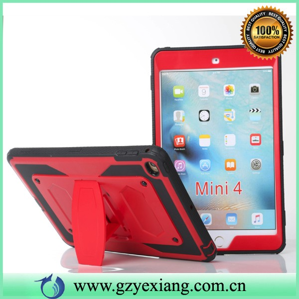 belt clip rugged shockproof tablet case for ipad mini 4 pc tpu hybrid armor case with stand