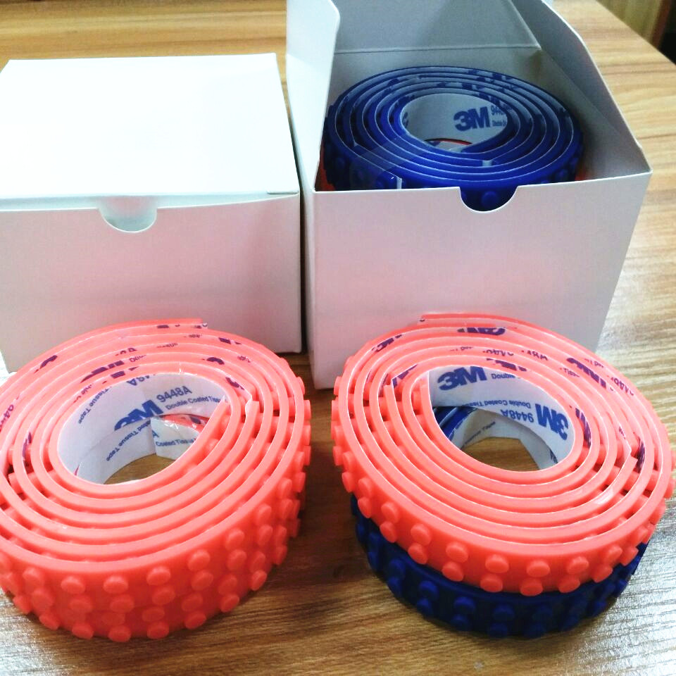 Hot sale silicone rubber legoes building block tape with cheap blank carton box packing