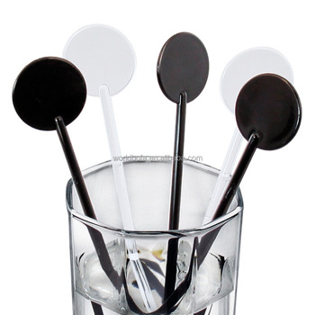 Wholesale hennessy disposable plastic swizzle stick cocktail novelty drink stirrer
