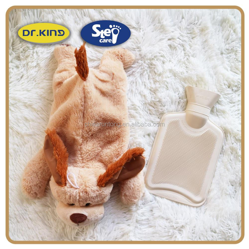 Warm container novelty shaped cover tiger hot water bottles
