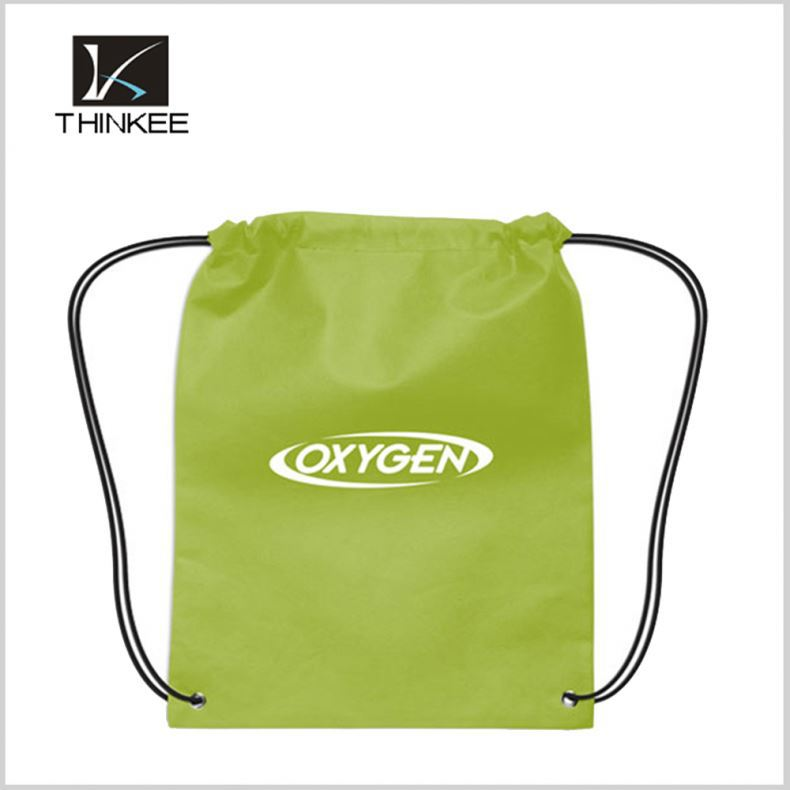 China Manufacturer Customized Printing 210D Polyester Drawstring Backpack