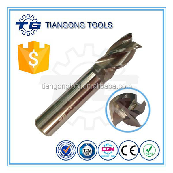 4 Flutes HSS Co8 End Mill with Standard Type for Lathe Cutter
