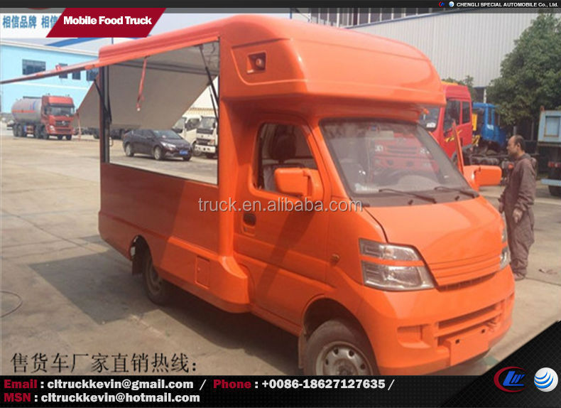 1.5 Ton Mini Food Vans Mobile Food Truck