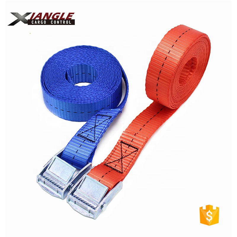 250kgs capacity 25mm Metal Cam Buckle Tie Down Lashing Straps used for tightening goods