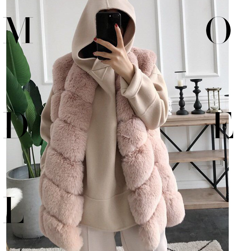Fashion Sleeveless Fur Coat /Fur Outerwear /Lady Winter Faux Fur Vest