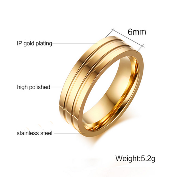 Wholesale Moroccan Jewelry Fashion Simple Gold Ring Without
