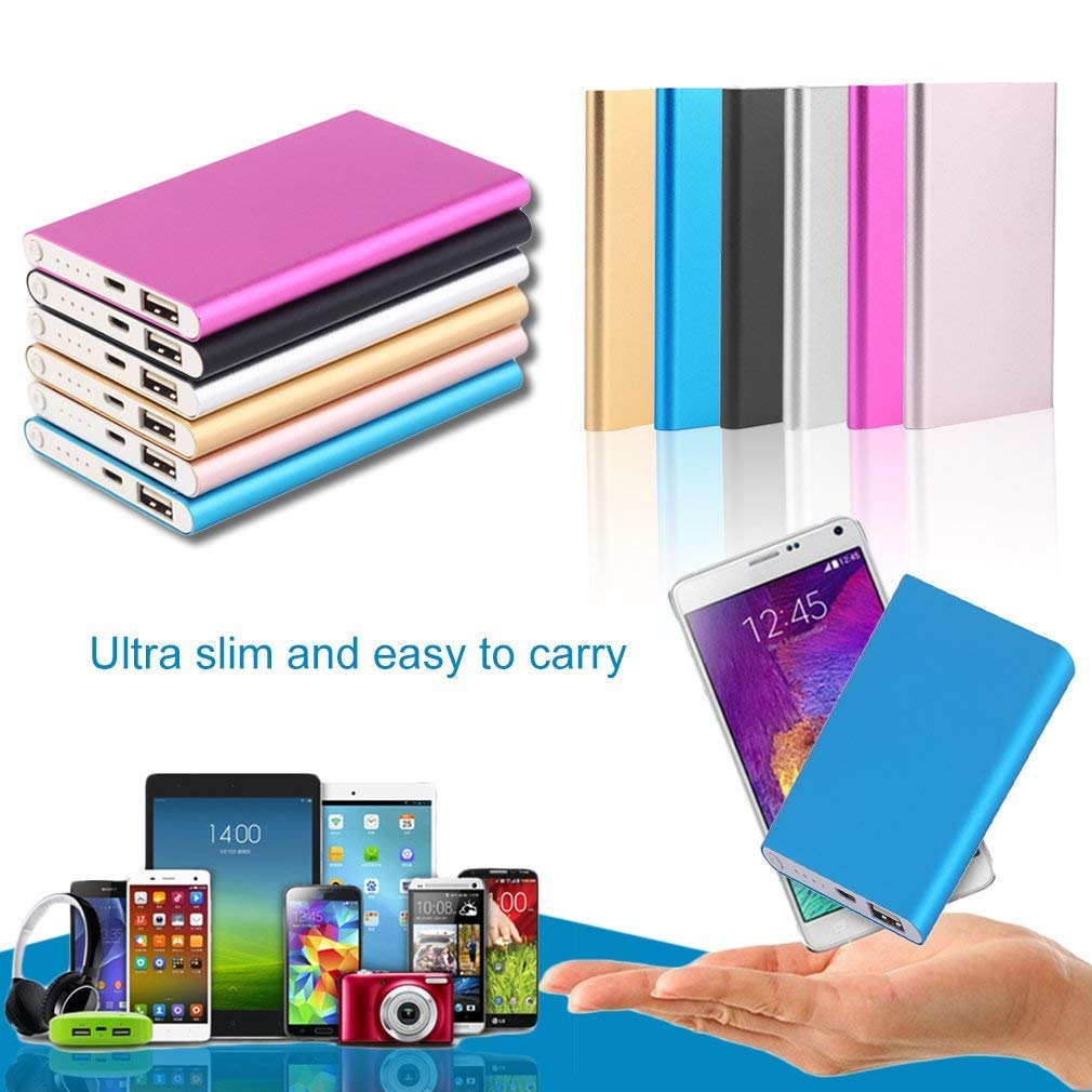 blue 10400MAH, External Power Bank, Mobile Phone, Battery Charger, Power Supply Super Thin 10400MAH External Power Bank Mobile Phone Battery Power Charger