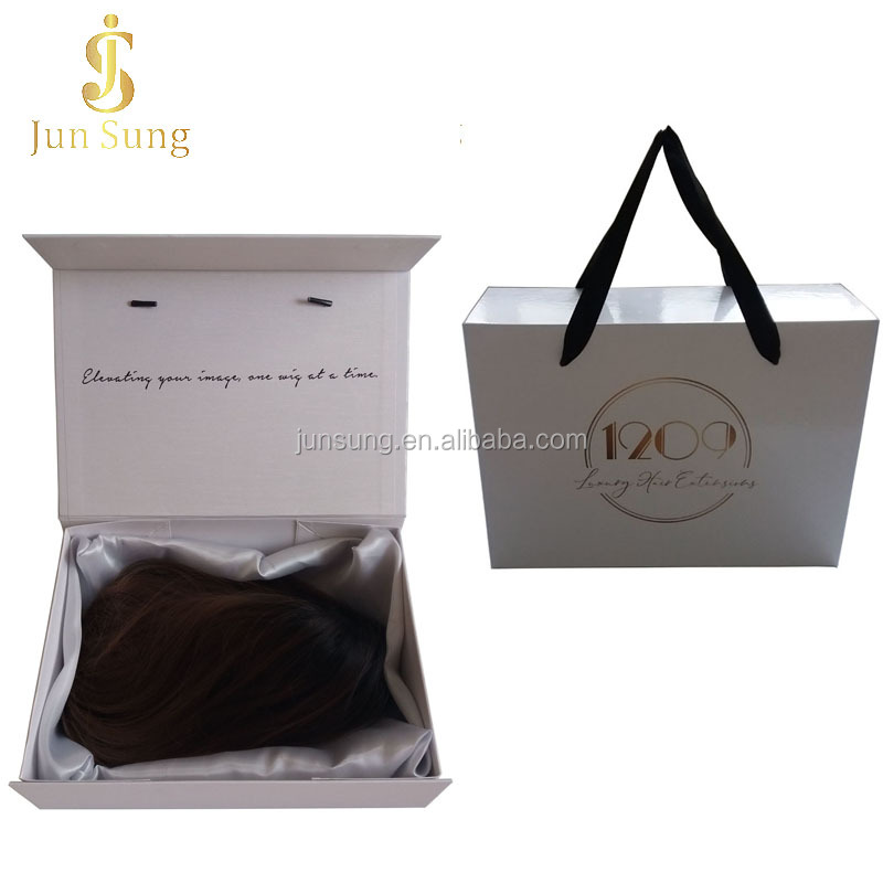 가발 Bundle custom hair extension 포장 와 새틴 안 감, 도매 custom luxury hair extension 포장 상자