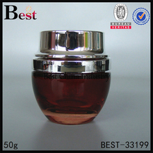 in stock amber black red color 30g 50g jar glass for cosmetics empty luxury hair cream jar container