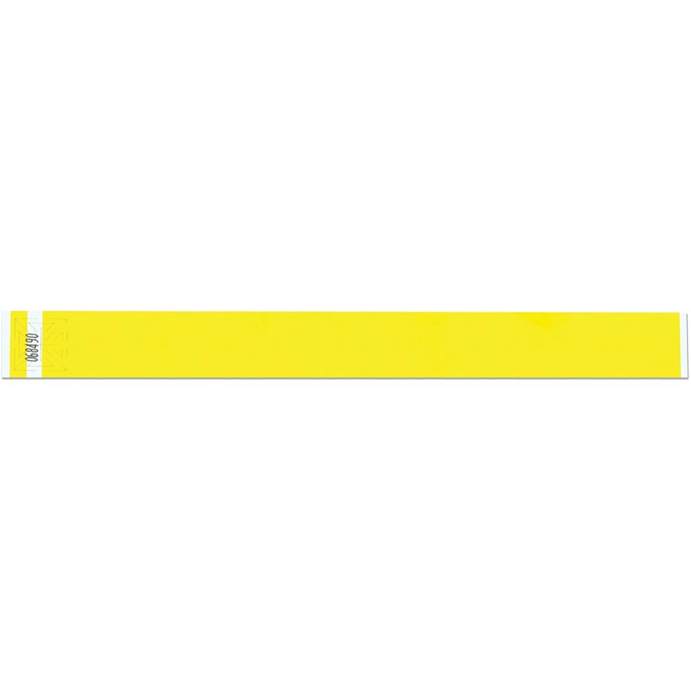 1 Inch Tyvek Tytan-Band® Wristbands - Strong Adhesive Closure Tear Resistant - Yellow - 500 Pieces Per Box