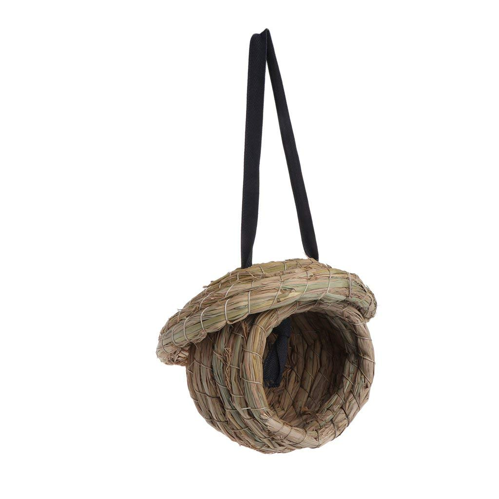 LoXTong Bird Nest Natural Straw Braid House Macaw Swallow Animals Pet Cages Accessories
