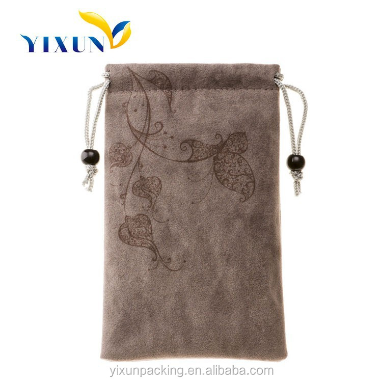 Made in China Custom wholesale leather jewelry pouch/bag